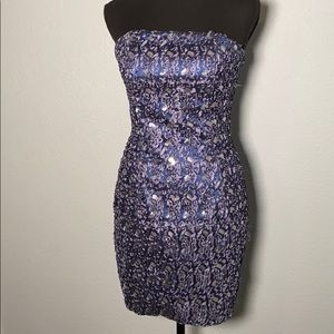 Jessica McClintock Blue sequin dress size 6